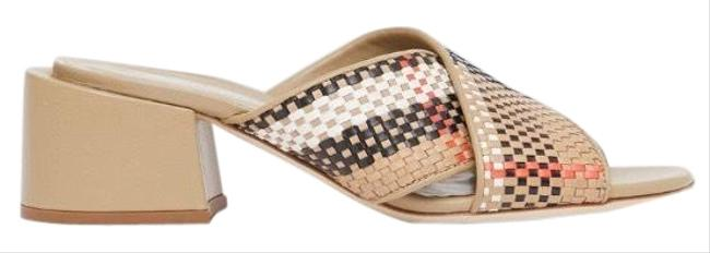 Burberry Check Woven Leather Mules Heels Sandals Size EU 37 (Approx. US 7) Regular (M, B) Burberry Check Woven Leather Mules Heels Sandals Size EU 37 (Approx. US 7) Regular (M, B) Image 1