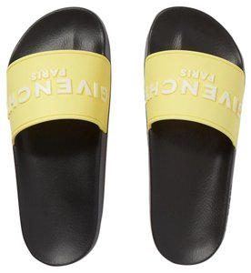 Givenchy Pool Slides Flip Yellow Sandals
