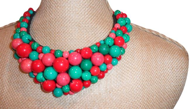 Item - Multi-color Bright Leather Back Necklace