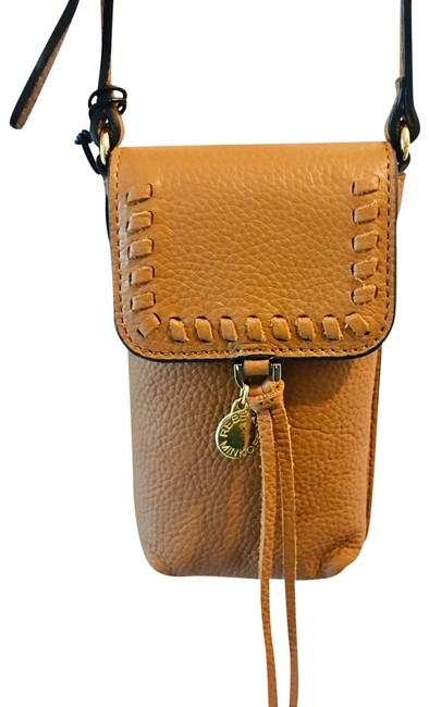 Item - Iphone Carrier Can Fit An Iphone Plus with A Thin Case. Tan. Leather Cross Body Bag