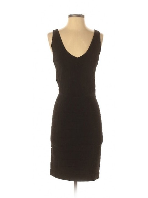 Item - Black Collection Knit Bandage Short Casual Dress Size 4 (S)