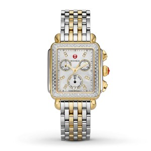 Michele Stainless Steel Deco Two Tone Mother Of Pearl Diamond Mww06p000108