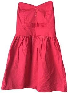 BeBop short dress Red Strapless Sweetheart Neckline Pleating On Front Smocking In Back on Tradesy
