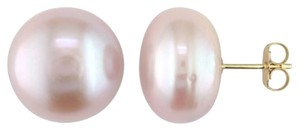 Other Amour 14k Yellow Gold 13-14mm Pink Pearl Stud Earrings