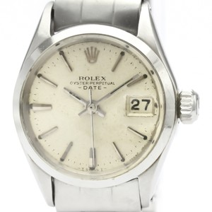 Rolex ROLEX Oyster Perpetual Date 6516 Steel Automatic Ladies Watch