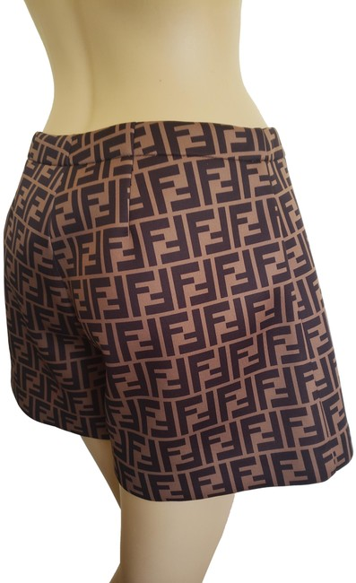Item - Brown Black Multicolor Zucca Logo Printed Shorts Size 4 (S, 27)