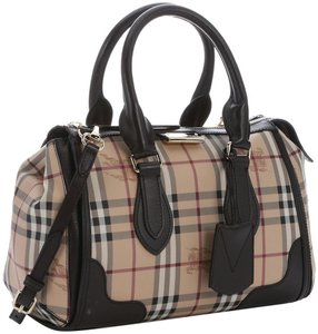 Burberry Haymarket Check Tote in Chocolate