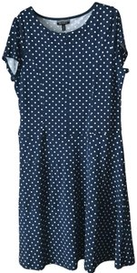 Allison Brittney short dress Navfy White Fit And Flare Polka Dots Cap Sleeves Pullover Style Machine Wash on Tradesy