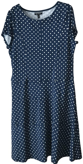 Item - Navy White Fit/Flare Short Casual Dress Size 12 (L)