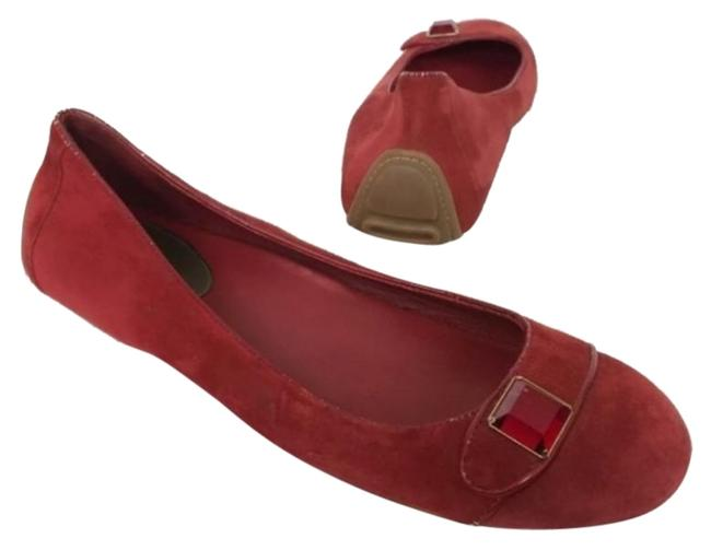 Cole Haan Red Leather Air Cap Toe Driving Flats Size US 9.5 Regular (M, B) Cole Haan Red Leather Air Cap Toe Driving Flats Size US 9.5 Regular (M, B) Image 1