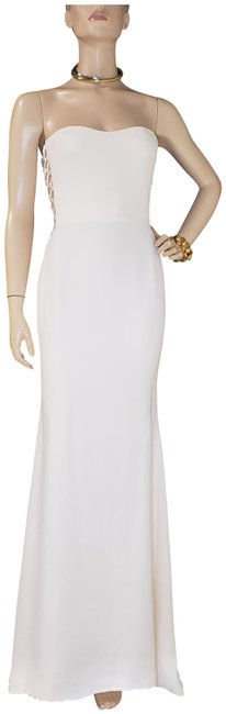 Item - White New Vintage Gianni Couture Beaded Silk and Tulle Gown Long Formal Dress Size 4 (S)
