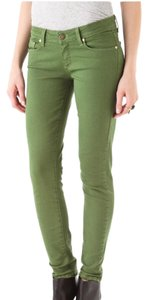 Paige Designer Colored Denim Skinny Jeans-Medium Wash
