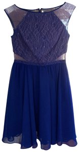 Aidan Mattox short dress Blue on Tradesy