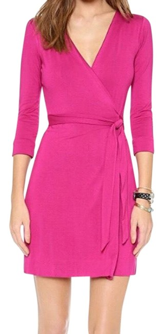 Item - Magenta New Julian Two Mini Wrap Short Night Out Dress Size 6 (S)
