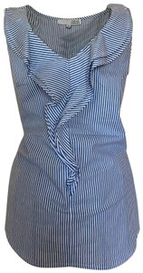 Harvé Benard Top blue and white