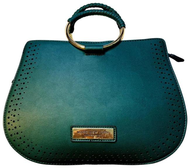Andrew Marc New Green Faux Leather Satchel Andrew Marc New Green Faux Leather Satchel Image 1