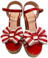 Kate Spade Red and White 'darya' Sandals In Wedges Size US 6 Regular (M, B) Kate Spade Red and White 'darya' Sandals In Wedges Size US 6 Regular (M, B) Image 1