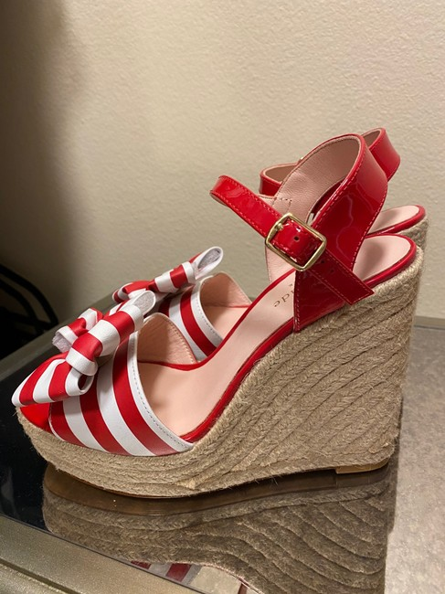 Kate Spade Red and White 'darya' Sandals In Wedges Size US 6 Regular (M, B) Kate Spade Red and White 'darya' Sandals In Wedges Size US 6 Regular (M, B) Image 2