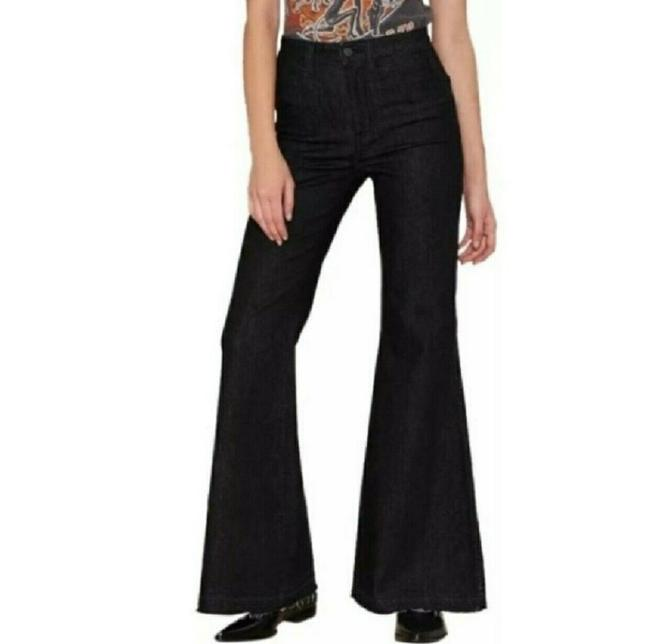 Item - Black Dark Rinse The Who What Night Stalker Wash Flare Leg Jeans Size 27 (4, S)