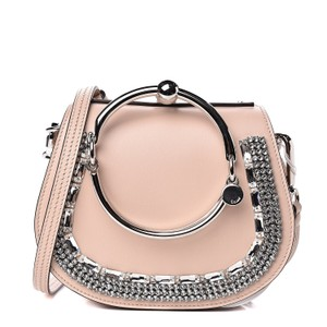 Chloé Crystal Embellished Bracelet Beige Cross Body Bag
