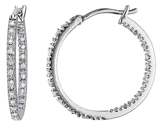 Other Sterling Silver 14 Ct Diamond Tw Hoop Earrings Gh I2-i3
