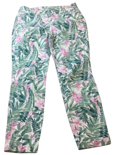 Item - Green & Pink Floral Green/Pink 6 Capri/Cropped Jeans Size 31 (6, M)