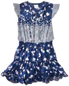 MISA Los Angeles short dress Blue Floral on Tradesy