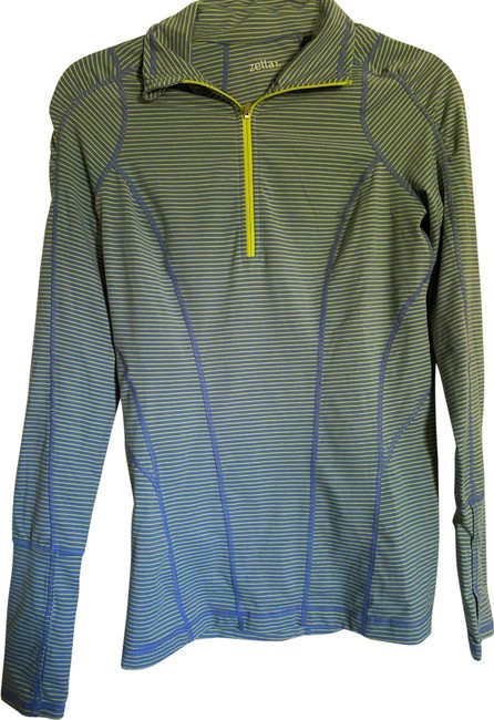 Item - Blue and Yellow Quarter Activewear Top Size 4 (S)