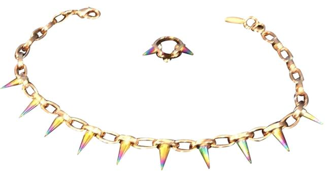Item - Rainbow Spike and Ring Necklace