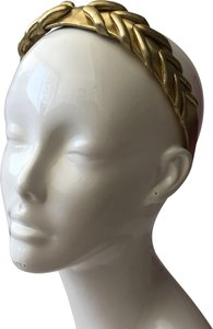 Anouk Anouk Of Cannes Gold Leather Textures Headband
