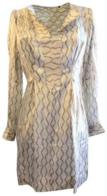 Item - Tunic Silk Lined Short Casual Dress Size 4 (S)