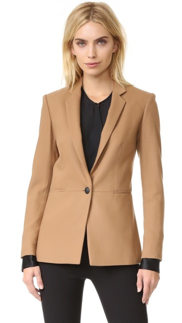 Item - Camel Emmet Single Button Jacket Blazer Size 2 (XS)