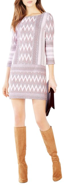 Item - Off White Combo Beth Knit Jaquard Tunic Short Casual Dress Size 4 (S)