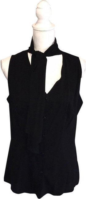 Escada Black Silk Blend Shirt Blouse Size 8 (M) Escada Black Silk Blend Shirt Blouse Size 8 (M) Image 1