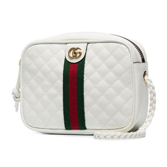 Item - Crossbody Marmont Gg Shoulder Mini Quilted Web Stripe Green Red Off White Leather Messenger Bag
