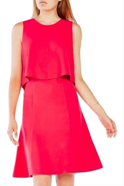 Item - Pink 498 Mid-length Cocktail Dress Size 4 (S)