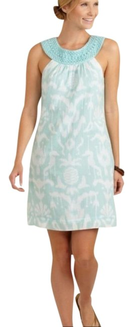 Preload https://img-static.tradesy.com/item/27424288/vineyard-vines-turquoise-bailey-ikat-shift-short-casual-dress-size-6-s-0-1-650-650.jpg