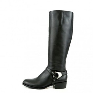 Via Spiga Leather Equestrian Winter Fall Black Boots