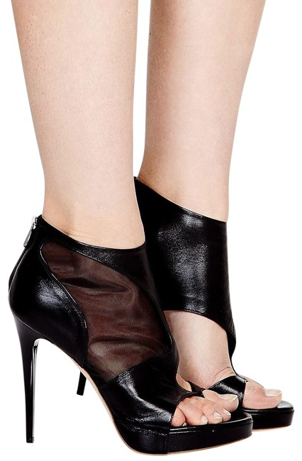 MCQ by Alexander McQueen Black Leather Sheer Boots/Booties Size EU 36 (Approx. US 6) Regular (M, B) MCQ by Alexander McQueen Black Leather Sheer Boots/Booties Size EU 36 (Approx. US 6) Regular (M, B) Image 1