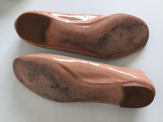 Twelfth St. by Cynthia Vincent Patent Ballet Ballerina Nude Flats