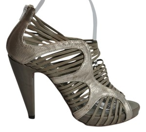 Barneys Co-Op Barney's New York Co Op Gold Taupe Sandals