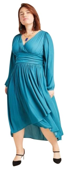 Item - Turquoise Gwendolyn Maxi Long Cocktail Dress Size 18 (XL, Plus 0x)