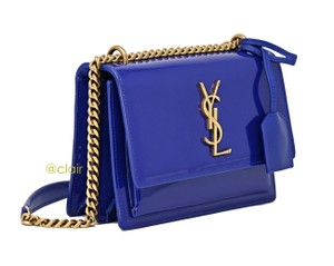 Saint Laurent Monogram Patent Leather Cross Body Bag