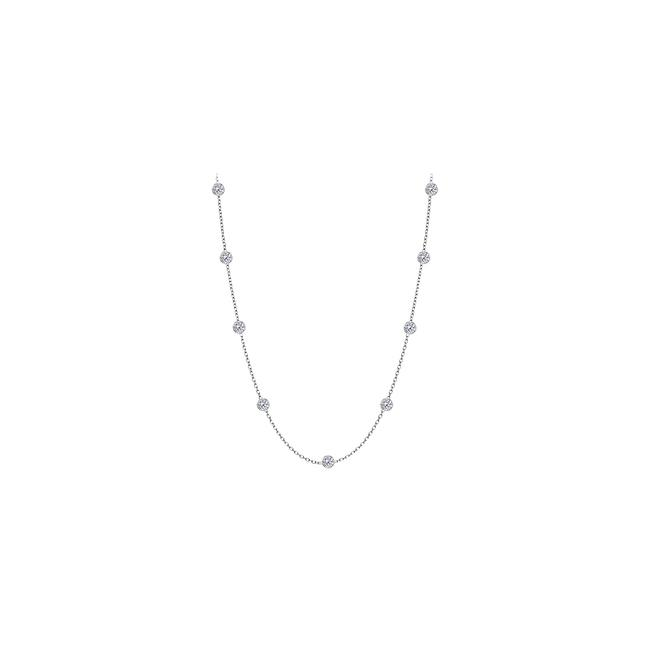 Item - White Diamonds By The Yard 14kt Gold 0.25 Ct Total Diamond Necklace