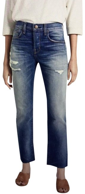 Item - Blue Distressed Unisex The Crossover Zephyr Destroy Style 1838–1876 Relaxed Fit Jeans Size 2 (XS, 26)