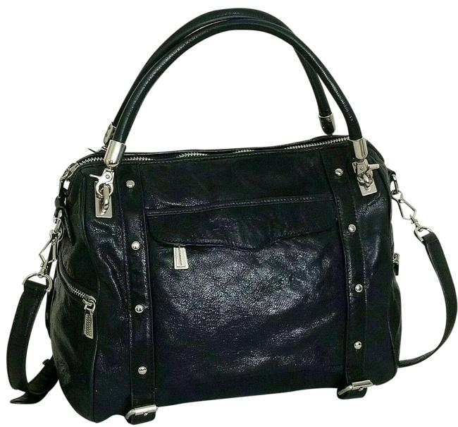 Item - Cupid Navy Blue/Silver Hardware Leather Satchel