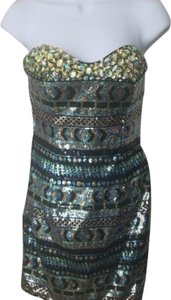 Precious Formals Strapless Sweetheart Sequin Cocktail Dress