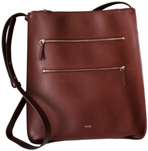 Vince Leather Minimal Structured Workwear Shoulder Bag