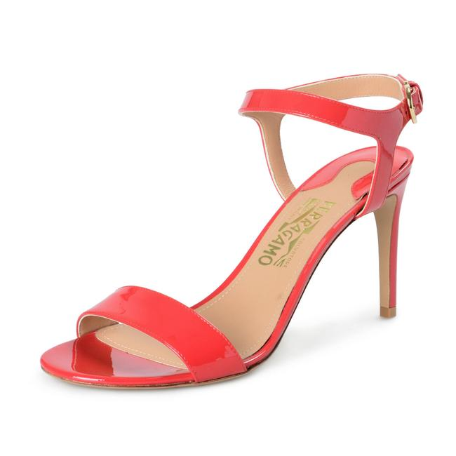 "Item - Red Women's ""Elita"" Patent Leather High Sandals Size US 9 Wide (C, D)"
