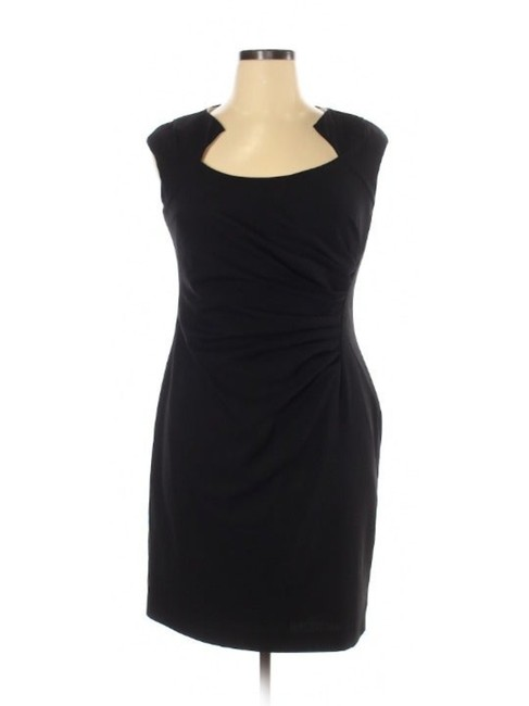 Item - Black Ruched Little Short Night Out Dress Size 14 (L)